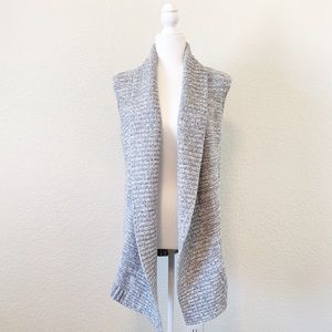 LOFT Chunky Long Open Sleeveless Cardigan Vest